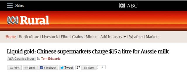 太狠了!澳洲商品到中国价格打滚!牛奶15澳元/升 牛肉600澳元/kg-澳洲唐人街