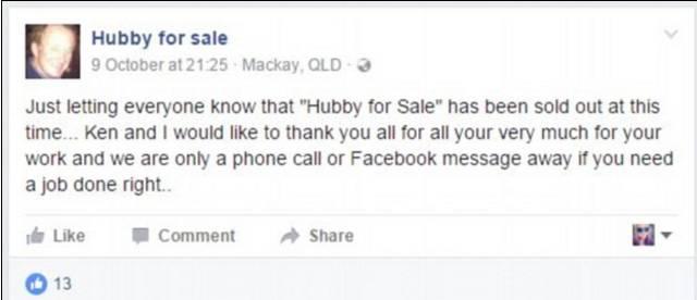 澳洲妻子在Facebook$35出售丈夫,结果引来大批妇女抢购!出人意料!-澳洲唐人街