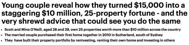 澳洲小夫妻6年内积累了$一千万财产!启动资金$15000,他们的秘诀很简单!-澳洲唐人街
