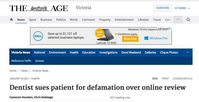 在墨尔本给商家写差评有什么后果:来看City大型牙医诊所怎样「處理」差评⋯⋯-澳洲唐人街