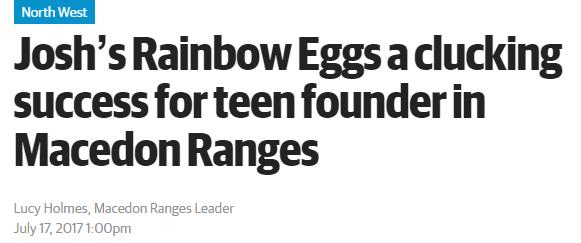 这个澳洲小男孩9岁卖鸡蛋,却卖成了一个传奇!16岁已成澳洲蛋蛋界的一哥-澳洲唐人街