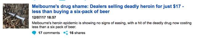敲警钟了!墨尔本毒品只售$17,现在比烟和酒都便宜!因它而死在街頭的人越来越多!-澳洲唐人街