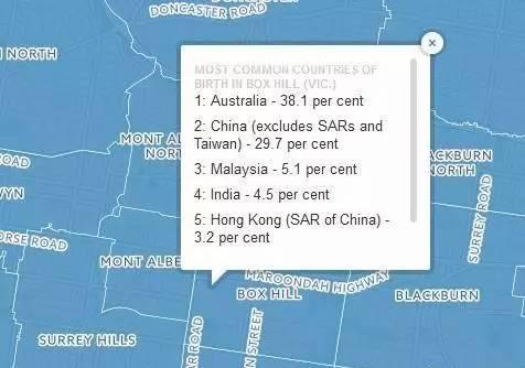 墨尔本移民地图公佈,来看看大家都住在哪裡-澳洲唐人街