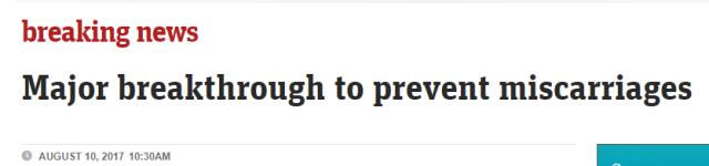 @所有准妈妈:重大突破!澳华裔科学团队发现预防流产和先天缺陷的方法-澳洲唐人街