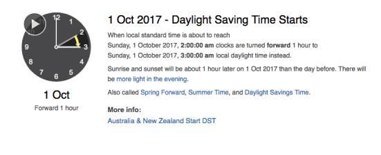 注意啦!10月1日夏令时来了,时间將少1小时-澳洲唐人街