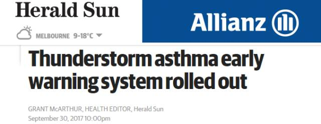 墨爾本花粉症快將爆發,政府強勢推出哮喘預測新系統-澳洲唐人街