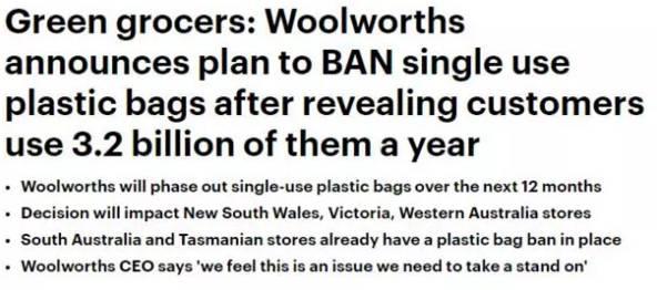 15cents就能拯救10萬條命!Woolworths冒著得罪顧客的風險也要收取0.15澳元,只因為做人不能沒有良心-澳洲唐人街