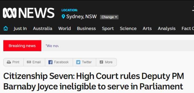 澳洲副总理是新西兰人,最终被判决下台-澳洲唐人街