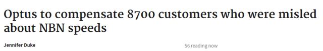 超过8500名顾客获赔!Optus紧随Telstra脚步向客户认错,承認网速是真的慢-澳洲唐人街