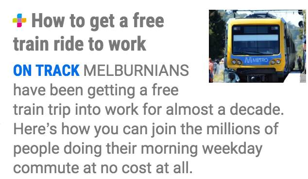 明年1月1日起墨尔本Myki乘车费涨价!但其实Metro一直都有免费班车,只是很多人不知道-澳洲唐人街