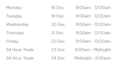 Chadstone34小时不打烊马上开始了!各大商场Boxing Day预热剁手时间表奉上!-澳洲唐人街