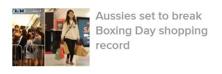 Boxing Day终于结束!全澳消费$24亿,维州人貢獻了$7.45亿-澳洲唐人街