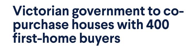 攻略:下月起維州政府送錢給你買房!照著下面做政府幫付1/4房貸-澳洲唐人街